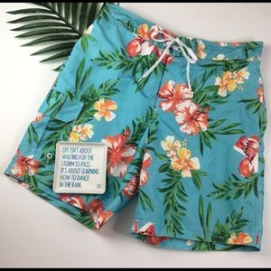 b542d4ab40 Merona 36-38 Large Hawaiian Floral Swim Trunks